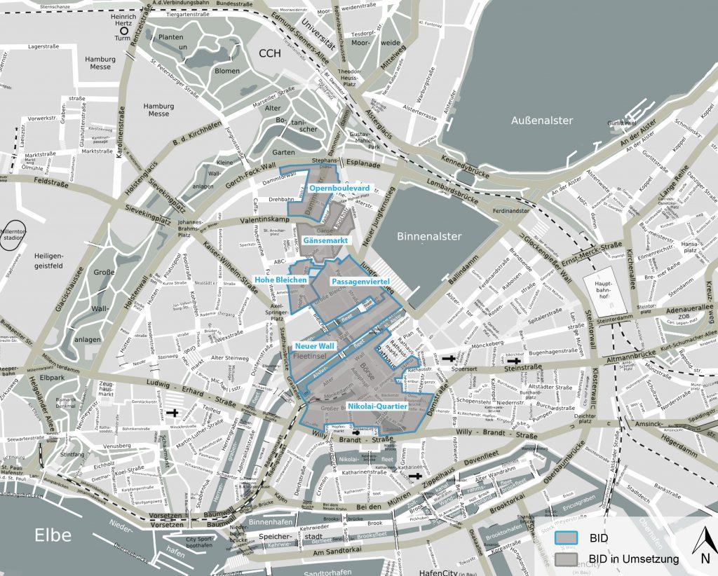 Verortung Innenstadt BIDs_Argusfarben